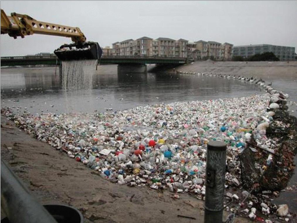 El lado crudo de la realidad  Contaminacion Yamuna River Trash